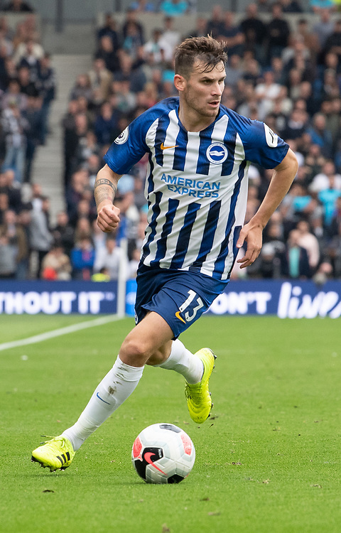 Brighton & Hove Albion's Pascal Gross <br /> <br /> Photographer David Horton/CameraSport<br /> <br /> The Premier League - Brighton and Hove Albion v Tottenham Hotspur - Saturday 5th October 2019 - The Amex Stadium - Brighton<br /> <br /> World Copyright © 2019 CameraSport. All rights reserved. 43 Linden Ave. Countesthorpe. Leicester. England. LE8 5PG - Tel: +44 (0) 116 277 4147 - admin@camerasport.com - www.camerasport.com