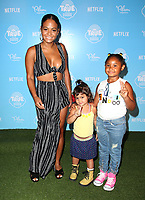 LOS ANGELES, CA - AUGUST 10: Christina Milian, Violet Madison Nash, at the Netflix Series Premiere Of True And The Rainbow Kingdom at the Pacific Theatres at The Grove in Los Angeles, California on August 10, 2017. <br /> CAP/MPI/FS<br /> &copy;FS/MPI/Capital Pictures
