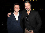Michael Grandage & Ricky Martin.attending the Broadway Opening Night Actors' Equity Gypsy Robe Ceremony for recipient Matt Wall in 'EVITA' at the Marquis Theatre in New York City on 4/5/2012 © Walter McBride/WM Photography