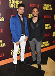 HOLLYWOOD, CA - APRIL 06:  Singers Jean Solero and Jonathan Solero of the music group Solero attend the premiere of Netflix's 'Sandy Wexler' at the ArcLight Cinemas Cinerama Dome on April 6, 2017 in Hollywood, California.