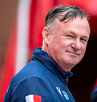 4th July 2020; Bet365 Stadium, Stoke, Staffordshire, England; English Championship Football, Stoke City versus Barnsley; Stoke City Manager Michael O'Neill