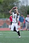 Palos Verdes, CA 11/10/11 - Brandon Canky (Peninsula #11) in action during the Peninsula-Palos Verdes varsity football game.