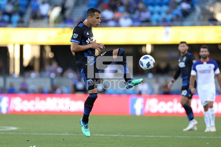 San Jose, CA - Saturday October 13, 2018: Luis Felipe during a friendly match between the San Jose Earthquakes and Cruz Azul at Avaya Stadium.