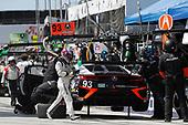2017 IMSA WeatherTech SportsCar Championship<br /> BUBBA burger Sports Car Grand Prix at Long Beach<br /> Streets of Long Beach, CA USA<br /> Saturday 8 April 2017<br /> 93, Acura, Acura NSX, GTD, Andy Lally, Katherine Legge, pit stop<br /> World Copyright: Michael L. Levitt<br /> LAT Images