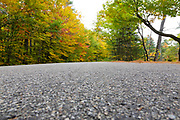 Passaconaway Road during the autumn months in Albany, New Hampshire USA