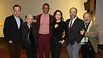 "Harry Hadden-Paton, Rosemary Harris, Christian Dante White, Laura Benanti, Danny Burstein and Allan Corduner attends the ""My Fair Lady"" Re-Opening Celebration at the Vivian Beaumont Theatre on January 27, 2019 in New York City."