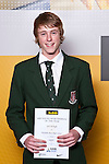 Boys Squash winner Josh McHugh from Westlake Boys High School. ASB College Sport Auckland Secondary School Young Sports Person of the Year Awards held at Eden Park on Thursday 12th of September 2009.