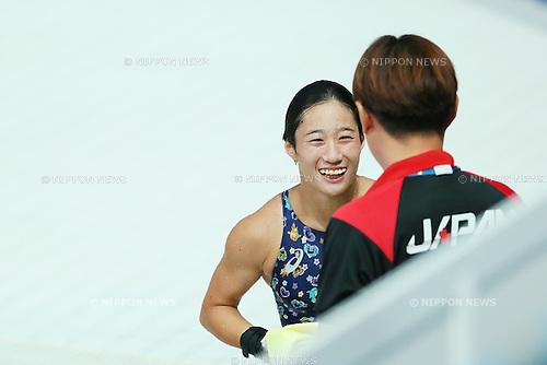 (L-R) Suei Mabuchi caoah, Minami Itahashi (JPN), JULY 29, 2015 - Diving : 16th FINA World Championships Kazan 2015 Women's 10m Platform Preliminary at Aquatics Palace in Kazan, Russia. (Photo by Yohei Osada/AFLO SPORT)