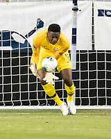 KANSAS CITY, KS - JUNE 26: Sean Johnson #12 makes a save during a game between United States and Panama at Children's Mercy Park on June 26, 2019 in Kansas City, Kansas.
