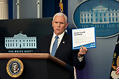 March 31, 2020 - Washington, DC, United States: United States Vice President Mike Pence participates in a news briefing by members of the Coronavirus Task Force at the White House. <br /> Credit: Chris Kleponis / Pool via CNP