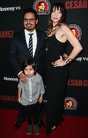 "HOLLYWOOD, LOS ANGELES, CA, USA - MARCH 20: Michael Pena, Roman Pena, Brie Shaffer at the Los Angeles Premiere Of Pantelion Films And Participant Media's ""Cesar Chavez"" held at TCL Chinese Theatre on March 20, 2014 in Hollywood, Los Angeles, California, United States. (Photo by Celebrity Monitor)"