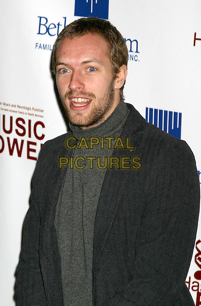CHRIS MARTIN - COLDPLAY.3rd Annual Music Has Power party in New York City.01/12/2003.beard.www.capitalpictures.com.sales@capitalpictures.com.©Capital Pictures.