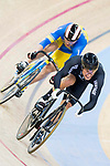 Sam Webster of the New Zealand team and Andrii Vynokurov of the Ukraine team competes in the Men's Sprint - 1/8 Finals as part of the Men's Sprint - 1/8 Finals as part of the 2017 UCI Track Cycling World Championships on 14 April 2017, in Hong Kong Velodrome, Hong Kong, China. Photo by Chris Wong / Power Sport Images