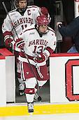 Kyle Criscuolo (Harvard - 11), Greg Gozzo (Harvard - 13) - The Harvard University Crimson defeated the visiting Colgate University Raiders 7-4 (EN) on Saturday, February 20, 2016, at Bright-Landry Hockey Center in Boston, Massachusetts,