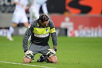 FUSSBALL  1. BUNDESLIGA  SAISON 2012/2013  14. SPIELTAG     TSG 1899 Hoffenheim - VfL Wolfsburg       18.11.2012 Torwart Tim Wiese (TSG 1899 Hoffenheim) enttaeuscht nach dem Tor zum 0-2