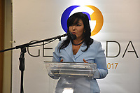 La dirigente del PRM Geanilda V&aacute;squez, se postul&oacute; este martes como candidata presidencial de su partido para las elecciones internas pautas para el pr&oacute;ximo mes de septiembre. <br /> Foto: &copy; Edgar Hern&aacute;ndez<br /> Fecha:29/08/2017