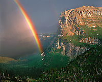 Rainbow in Logan Pass; Glacier National Park, MT
