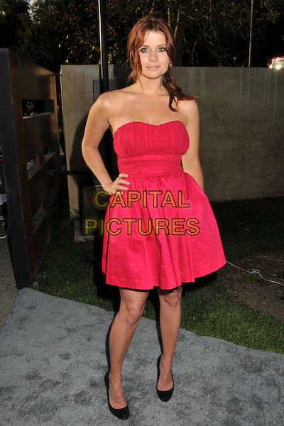 JOANNA GARCIA.8th Annual Chrysalis Butterfly Ball held at a Private Residence, Los Angeles, CA, USA..June 6th, 2009.full length pink strapless dress hand on hip black shoes .CAP/ADM/BP.©Byron Purvis/AdMedia/Capital Pictures.