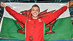 Wales Daniel Jarvis celebrates winning bronze Men's 1500m Free Final <br /> <br /> Photographer Ian Cook/Sportingwales<br /> <br /> 20th Commonwealth Games -Swimming -  Day 6 - Tuesday 29th July 2014 - Glasgow - UK