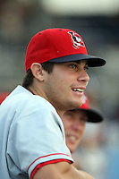 July 10th 2008:  Kade Keowen of the Lowell Spinners, Class-A affiliate of the Boston Red Sox, during a game at Dwyer Stadium in Batavia, NY.  Photo by:  Mike Janes/Four Seam Images