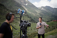 TV-coverage of the Tour at the mountain top finish of stage 9 in Andorra Arcalis (coming from Velha Val d'Aran/ESP, 184km)<br /> <br /> 103rd Tour de France 2016