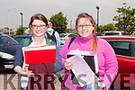 Nicole Broderick from Ballymac and Karen O'Brien from Banna started their Leaving Cert with Honours English Paper 1 in Mercy Mounthawk Secondary School on Wednesday (yesterday) morning.