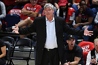 Washington, DC - Sept 17, 2019: Las Vegas Aces head coach Bill Laimbeer during WNBA Playoff semi final game between Las Vegas Aces and Washington Mystics at the Entertainment & Sports Arena in Washington, DC. The Mystics hold on to beat the Aces 97-95. (Photo by Phil Peters/Media Images International)