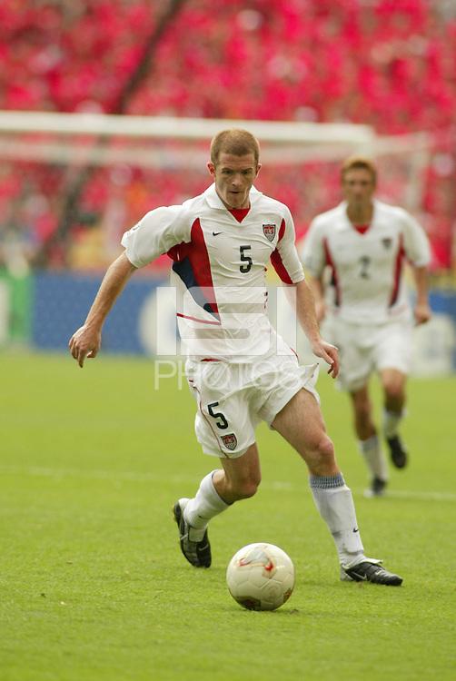 John O'Brien. The USA tied South Korea, 1-1, during the FIFA World Cup 2002 in Daegu, Korea.