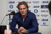Wycombe Manager Gareth Ainsworth gives a post match interview during the Sky Bet League 2 match between Wycombe Wanderers and Hartlepool United at Adams Park, High Wycombe, England on 5 September 2015. Photo by Andy Rowland.