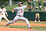 28 May 2016: SIU's T.J. Decker. The Cal Poly Pomona Broncos played the Southern Indiana Eagles in Game 2 of the 2016 NCAA Division II College World Series  at Coleman Field at the USA Baseball National Training Complex in Cary, North Carolina. Cal Poly Pomona won the game 2-1 in ten innings.