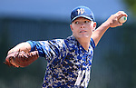 Western Nevada&rsquo;s Chase Kaplan pitches against College of Southern Nevada at WNC, in Carson City, Nev. on Friday, May 6, 2016. <br />Photo by Cathleen Allison/Nevada Photo Source