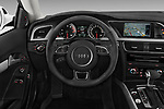 Car pictures of steering wheel view of a 2014 Audi A5 Premium Quattro 2 Door Coupe