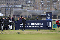 Lucas Bjerregaard (DEN) on the 4th tee during round 4 of the Alfred Dunhill Links Championship at Old Course St. Andrew's, Fife, Scotland. 07/10/2018.<br /> Picture Thos Caffrey / Golffile.ie<br /> <br /> All photo usage must carry mandatory copyright credit (&copy; Golffile | Thos Caffrey)