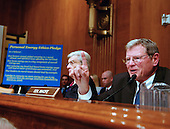 Washington, D.C. - March 21, 2007 -- United States Senator James M. Inhofe (Republican of Oklahoma), a critic of Former United States Vice President Al Gore, makes his opening statement before the United States Senate Committee on Environment and Public Works on his perspective on global warming in Washington, D.C. on Wednesday, March 21, 2007..Credit: Ron Sachs / CNP.(Editor's Note: No New York or New Jersey Newspapers within a 75 mile radius of New York City)
