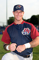 Hudson Valley Renegades Josh Hamilton poses for a photo before a NY-Penn League game at Dwyer Stadium on July 8, 2006 in Batavia, New York.  (Mike Janes/Four Seam Images)