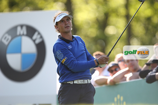 Joost LUITEN (NED) drives the 17th during Round One of the 2015 BMW PGA Championship over the West Course at Wentworth, Virginia Water, London. 21/05/2015Picture David Lloyd, www.golffile.ie.