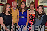 Sarah Murphy, centre, pictured with her oarents Denis and Breda and sisters Fiona and Rachel as she celebrated her 22nd birthday in Bricin Restaurant, Killarney on Saturday night........