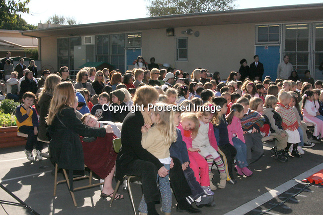 Pre-kindergarten and kindergarten students<br />Playground Dedication: Coeur d&rsquo;Alene Elementary School dedicates The New Anne &amp; Kirk Douglas Foundation and Creative Artists Agency Foundation Pre-Kindergarten and Kindergarten Playground<br />Coeur d&rsquo;Alene Elementary School<br />Venice, CA, USA<br />Wednesday, December 1st, 2004<br />Photo By Celebrityvibe.com/Photovibe.com, <br />New York, USA, Phone 212 410 <br />5354, email:sales@celebrityvibe.com