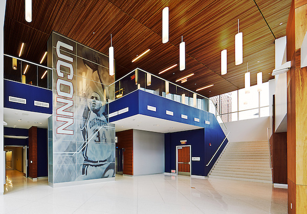 Lobby of UConn Basketball practice facility in Storrs, CT.