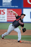 Dusten Knight (48) of the Sacramento River Cats pitches against the Las Vegas 51s at Cashman Field on June 15, 2017 in Las Vegas, Nevada. Las Vegas defeated Sacramento, 12-4. (Larry Goren/Four Seam Images)