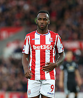 Saido Berahino of Stoke City during the Premier League match between Stoke City and Manchester United at the Britannia Stadium, Stoke-on-Trent, England on 9 September 2017. Photo by Andy Rowland.