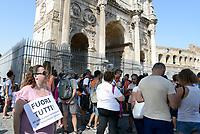Roma, 22 Luglio 2017<br /> Corteo contro l'obbligo dei vaccini, per la libert&agrave; di scelta