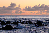 WQ70637-D. Lava rocks in the shallows just offshore Pico Island. Azores, Portugal, Atlantic Ocean.<br /> Photo Copyright © Brandon Cole. All rights reserved worldwide.  www.brandoncole.com
