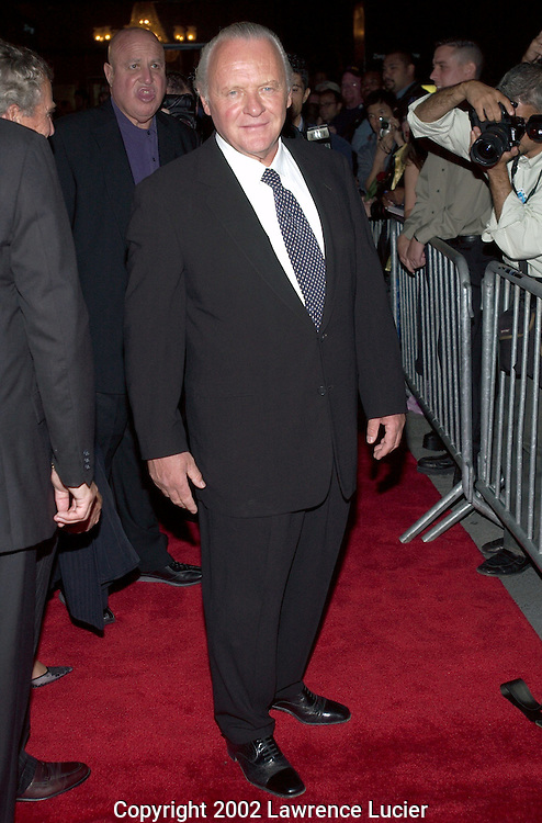 NEW YORK-SEPTEMBER 30: Actor Sir Anthony Hopkins arrives at the premier of the film Red Dragon September 30, 2002, in New York City.