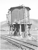 D&amp;RGW Crested Butte water tank.<br /> D&amp;RGW  Crested Butte, CO  Taken by Rogers, Donald E. A. - 6/1938