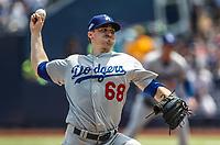 Ross Stripling<br /> <br /> Acciones del partido de beisbol, Dodgers de Los Angeles contra Padres de San Diego, tercer juego de la Serie en Mexico de las Ligas Mayores del Beisbol, realizado en el estadio de los Sultanes de Monterrey, Mexico el domingo 6 de Mayo 2018.<br /> (Photo: Luis Gutierrez)