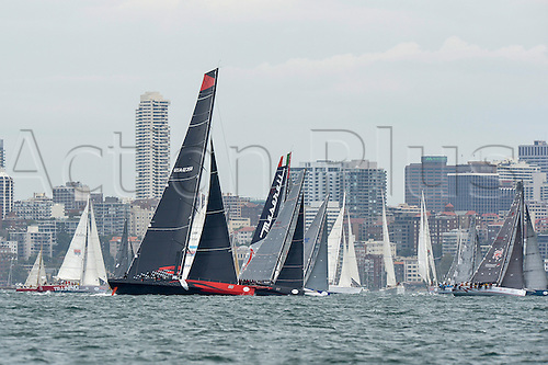 26.12.2015 Sydney, Australia. Rolex Sydney to Hobart Yacht race 2015. Yachts prepare for the start of the 629 nautical mile race from Sydney to Hobart on Sydney Harbour.