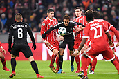 December 5th 2017, Allianze Arena, Munich, Germany. UEFA Champions league football, Bayern Munich versus Paris St Germain;  10 NEYMAR JR (psg) challenged by James Rodríguez (bay) and Sebastian Rudy (bay)