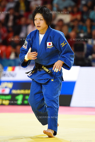 Misato Nakamura (JPN), AUGUST 25, 2015 - Judo : World Judo Championships Astana 2015 Women's -52kg Final match at Alau Ice Palace in Astana, Kazakhstan. (Photo by AFLO SPORT)