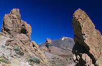 Spanien, Kanarische Inseln, Teneriffa, Teide-Park, Los Roques und Teide